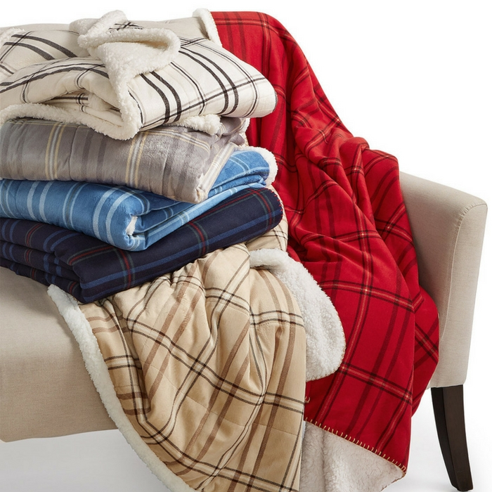 Martha Stewart Faux Sherpa Throw Just $19.97! Down From $60!