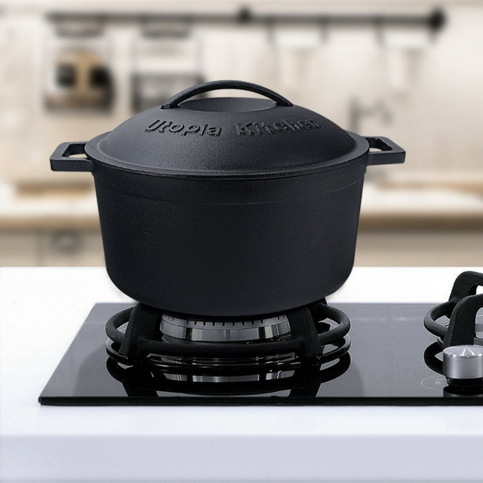Pre-Seasoned 5Qt Cast Iron Dutch Oven Just $23.99! Down From $50!