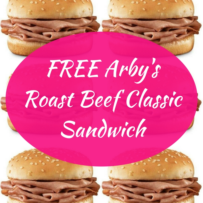 FREE Arby's Roast Beef Classic Sandwich With Purchase!