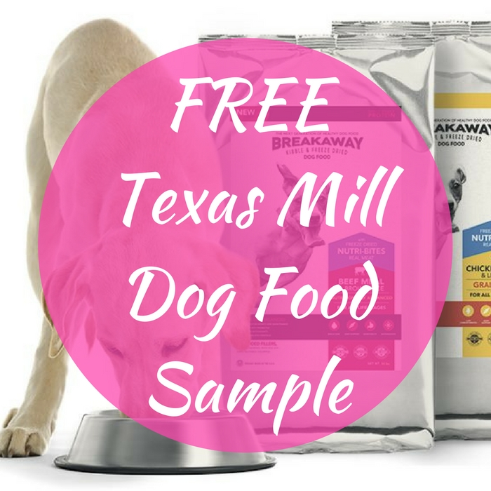 FREE Texas Mill Dog Food Sample!