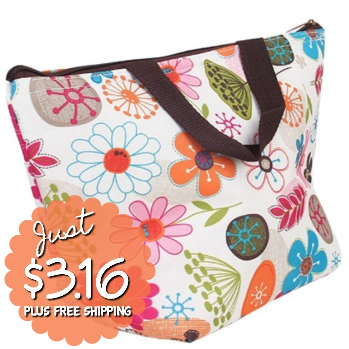 Waterproof Insulated Picnic Tote Just $3.16 PLUS FREE Shipping!
