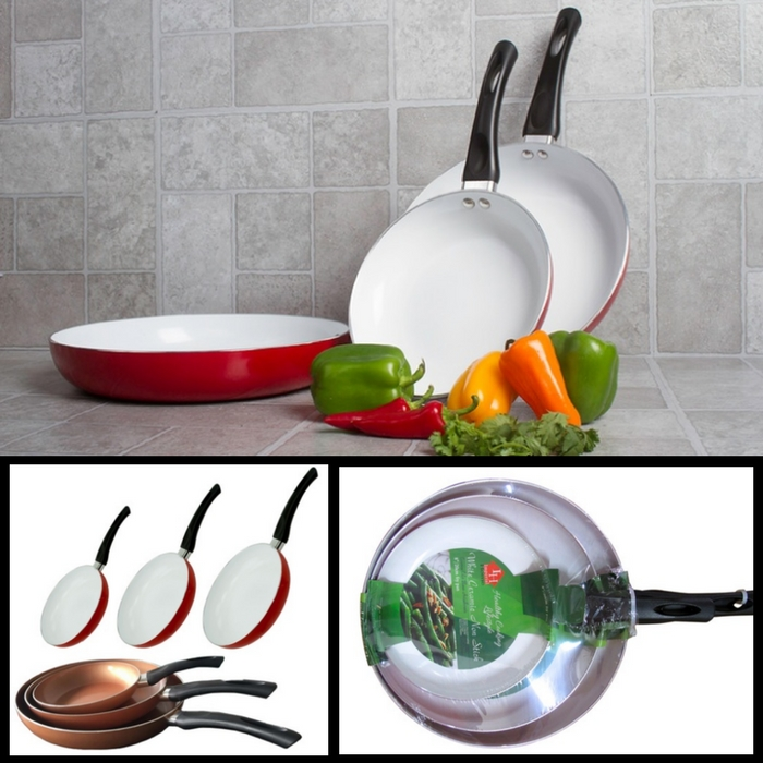 3-Piece Ceramic Fry Pans Just $24.99! Down From $60!