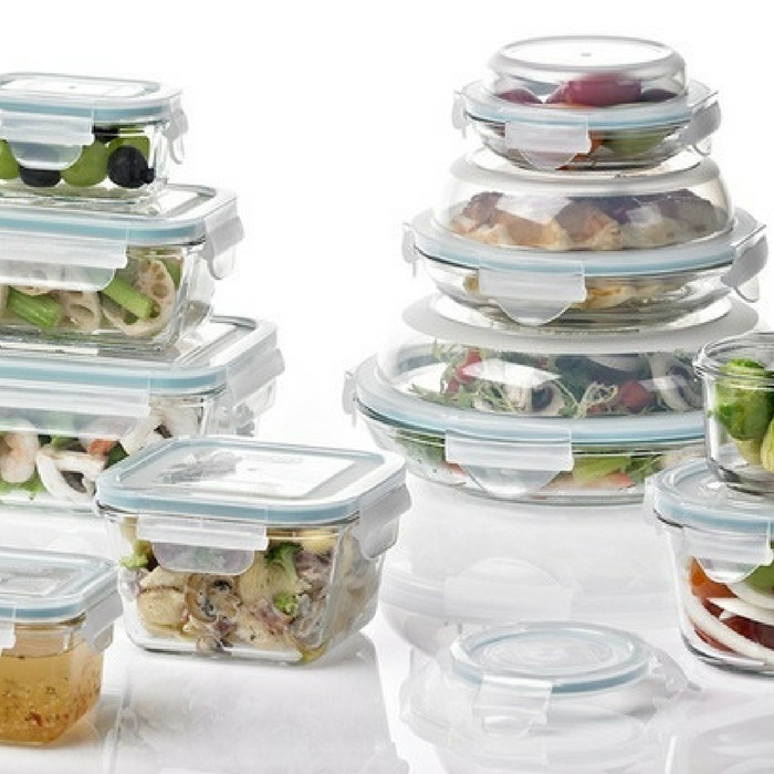 Glasslock Food Storage Container Set 14-Piece Just $29.99! Down From $60!