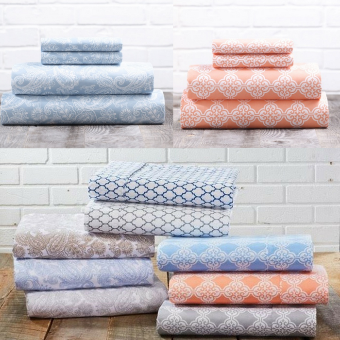 Scroll & Paisley Printed Sheets Twin Size $10.99! Down From $80!