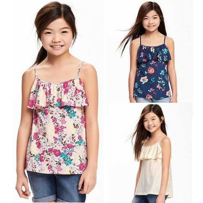 Ruffle-Trim Swing Tank For Girls Just $5! Down From $15!