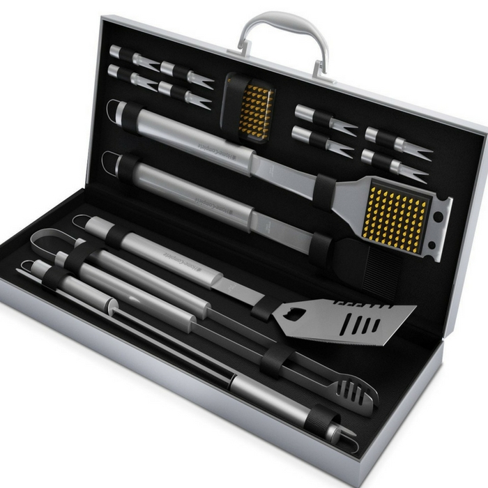 16-Piece BBQ Grill Tools Set Just $44.99! Down From $87! PLUS FREE Shipping!