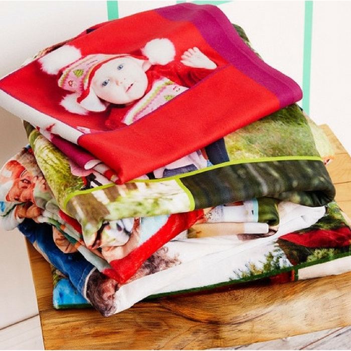"30"" x 40"" Custom Fleece Photo Blankets Just $17.99! Down From $90!"