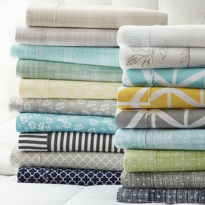 Merit Linens Soft Printed Bed Sheet Set Just $16.99! Down From $90!