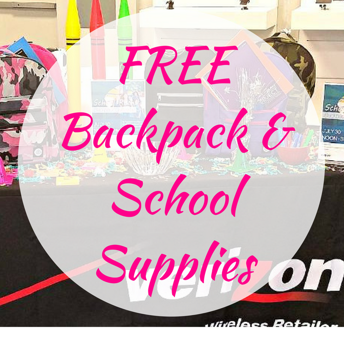 FREE Backpack & School Supplies At Select Verizon Stores!