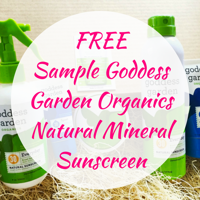 FREE Sample Goddess Garden Organics Natural Mineral Sunscreen!