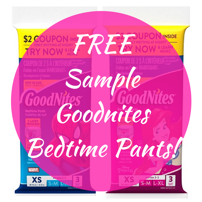 FREE Sample Goodnites Bedtime Pants!