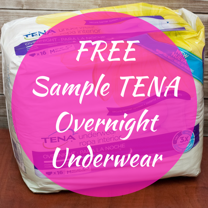 FREE Sample TENA Overnight Underwear!