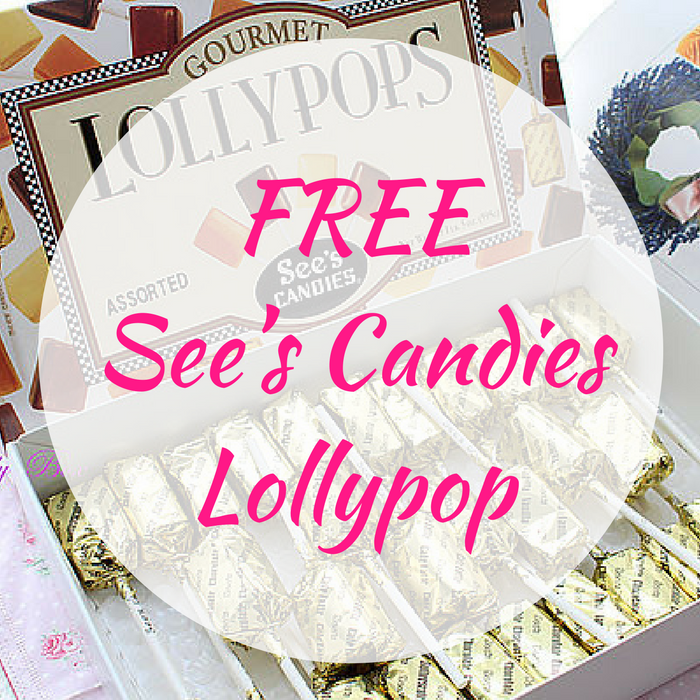 FREE See's Candies Lollypop!