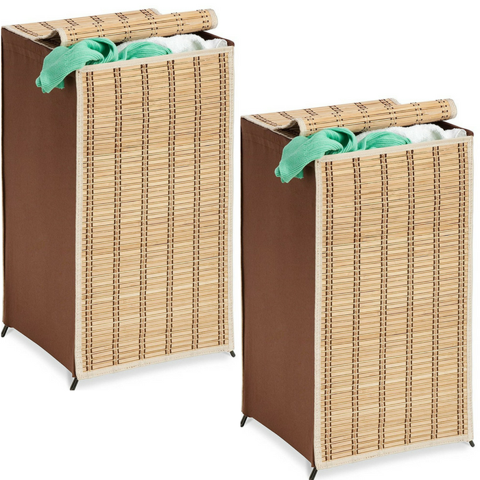 Tall Wicker Weave Hamper Just $9.92! Down From $31!