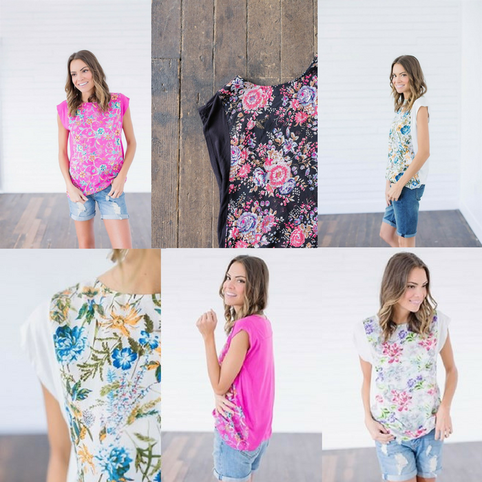 Floral Cap Sleeve Tops Just $7.99! Down From $30!