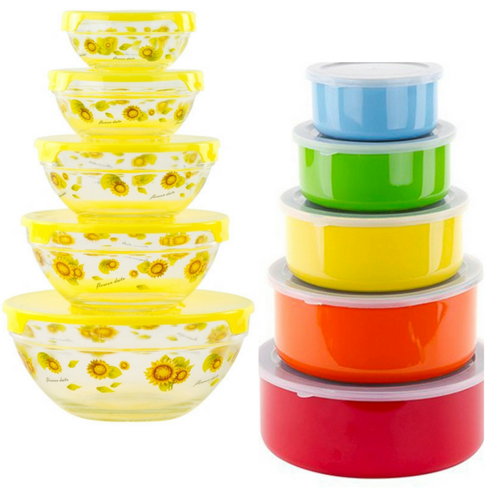 Multi-Purpose 10-Piece Bowls & Lids Just $13.99! Down From $25! PLUS FREE Shipping!