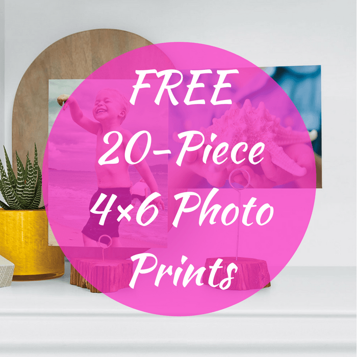 20 FREE 4×6 Photo Prints! PLUS FREE Shipping!