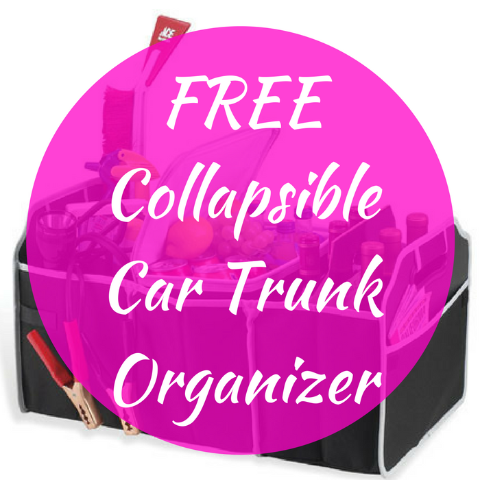 FREE Collapsible Car Trunk Organizer!