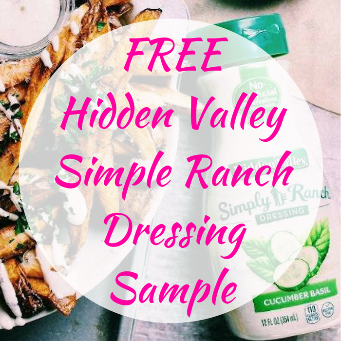 FREE Hidden Valley Simple Ranch Dressing Sample!