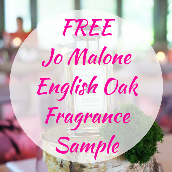 FREE Jo Malone English Oak Fragrance Sample!