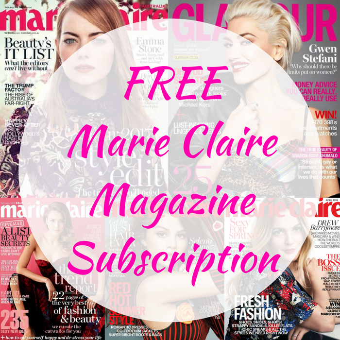 FREE Marie Claire Magazine 1-Year Subscription!