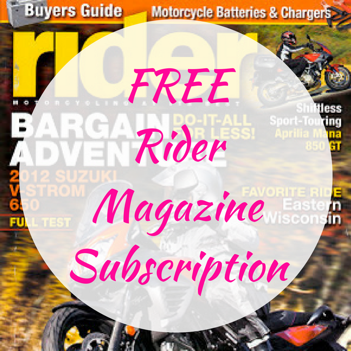 FREE Rider Magazine Subscription!