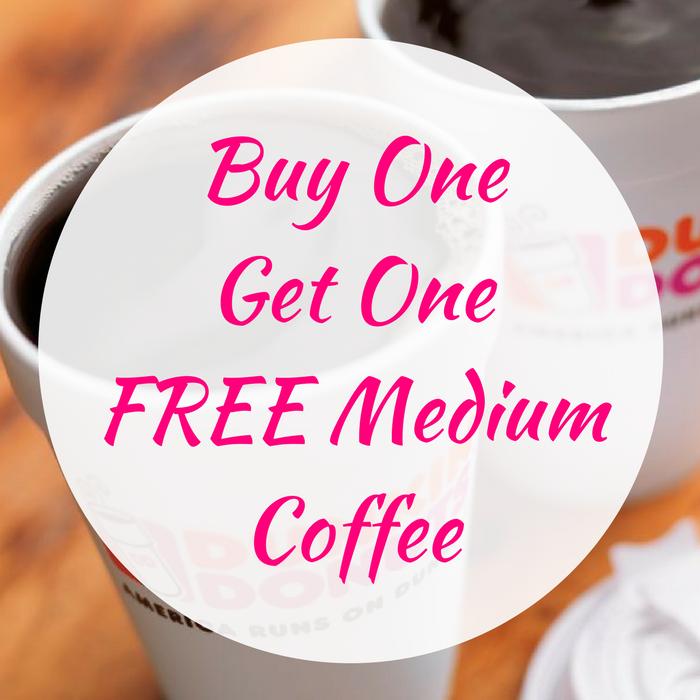 Buy One Get One FREE Medium Coffee!