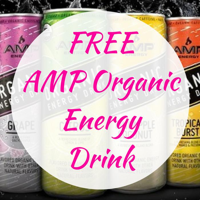 FREE AMP Organic Energy Drink!