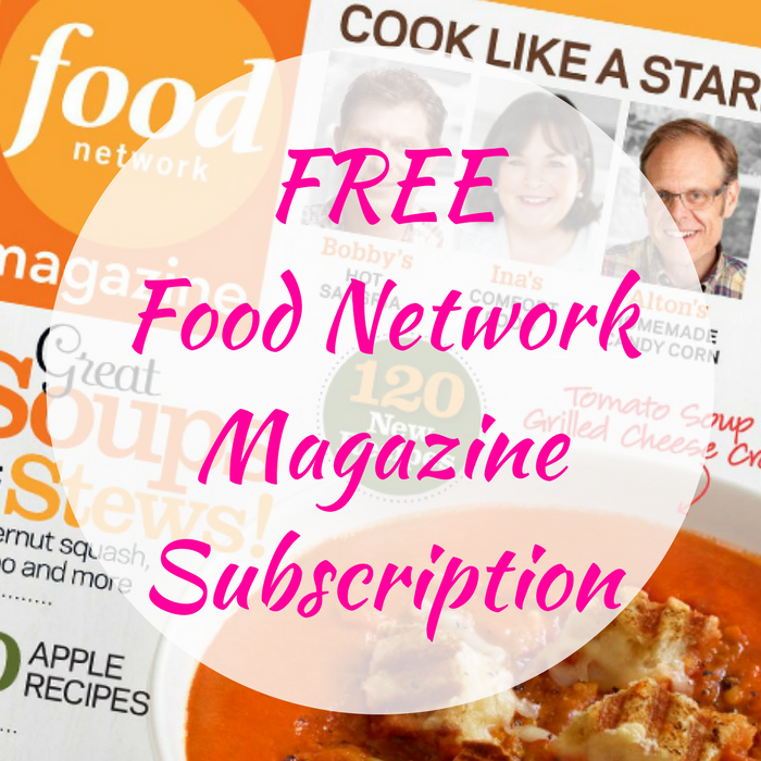 FREE Food Network Magazine Subscription!