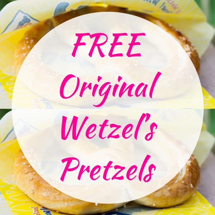 FREE Original Wetzel's Pretzels!