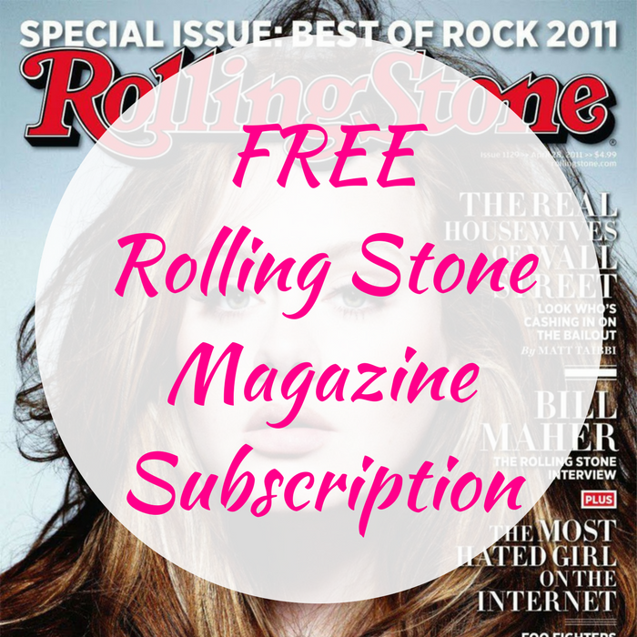 FREE Rolling Stone Magazine Subscription!