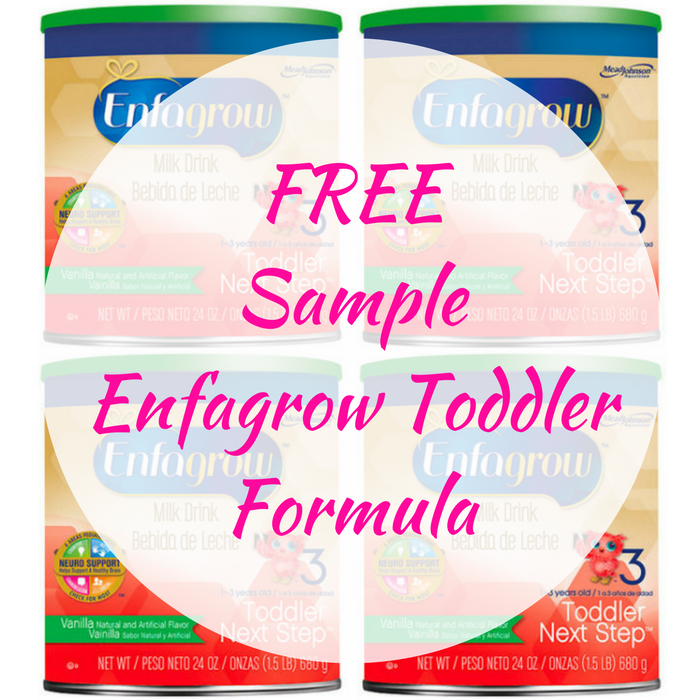 FREE Sample Enfagrow Toddler Formula!