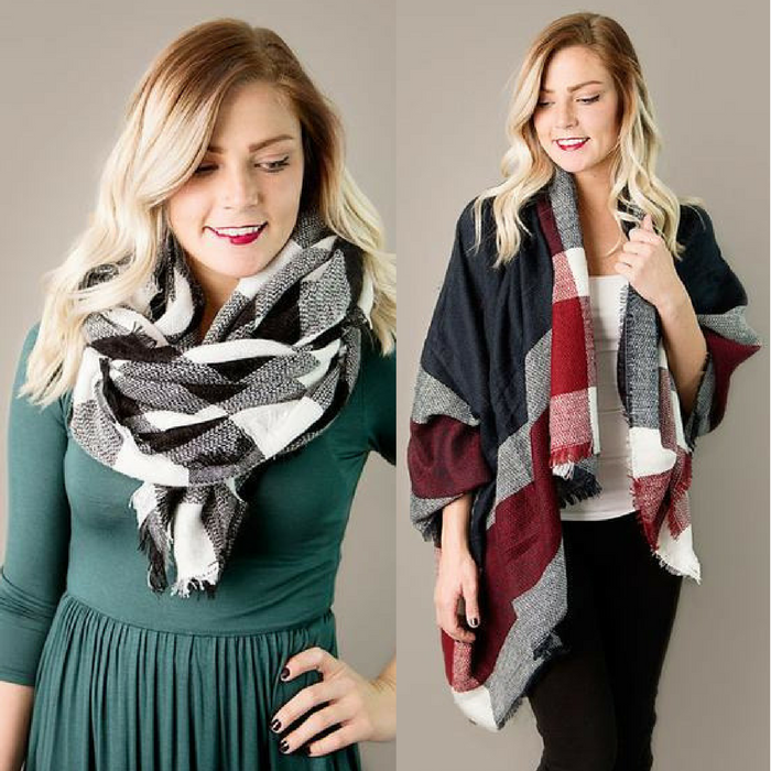 Plaid Blanket Scarves Just $12.95! Down From $25! PLUS FREE Shipping!