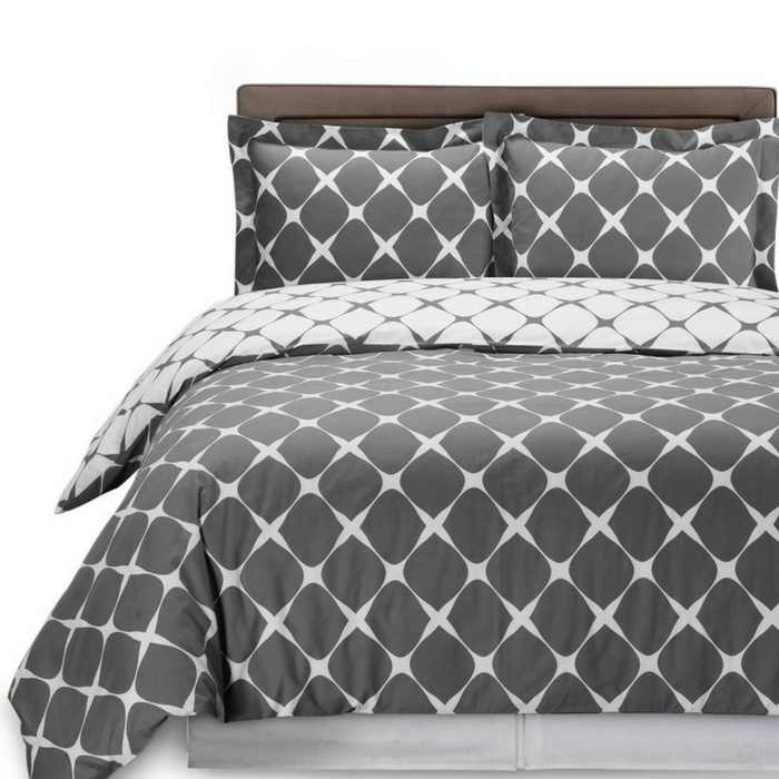 Queen Size Reversible Duvet Cover 3-Piece Set Just $13.99! Down From $45!