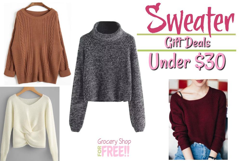 Women's Sweater Gift Ideas Under $30!