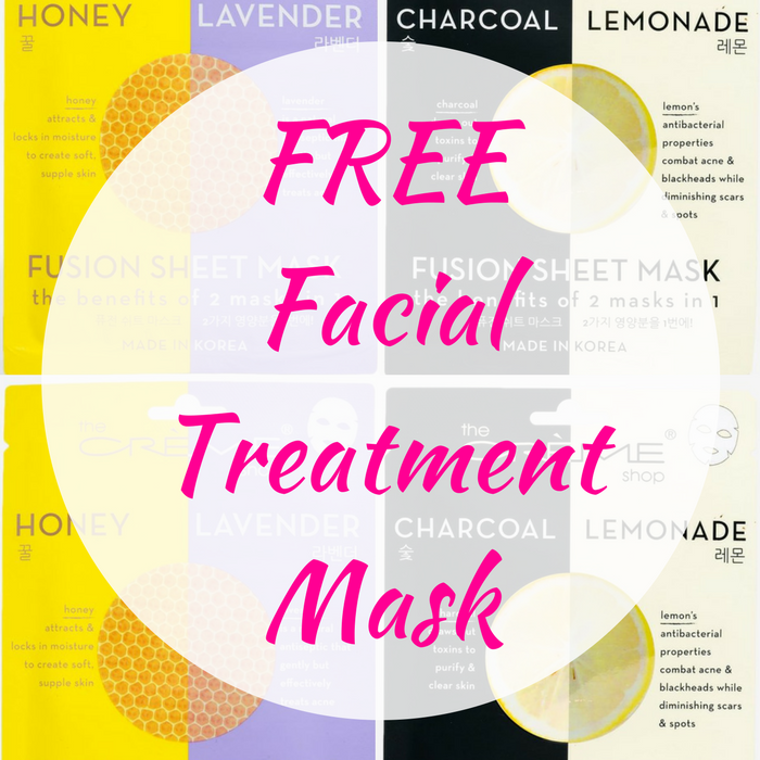 FREE Facial Treatment Mask!