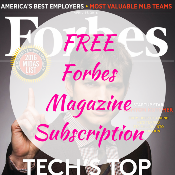 FREE Forbes Magazine Subscription!