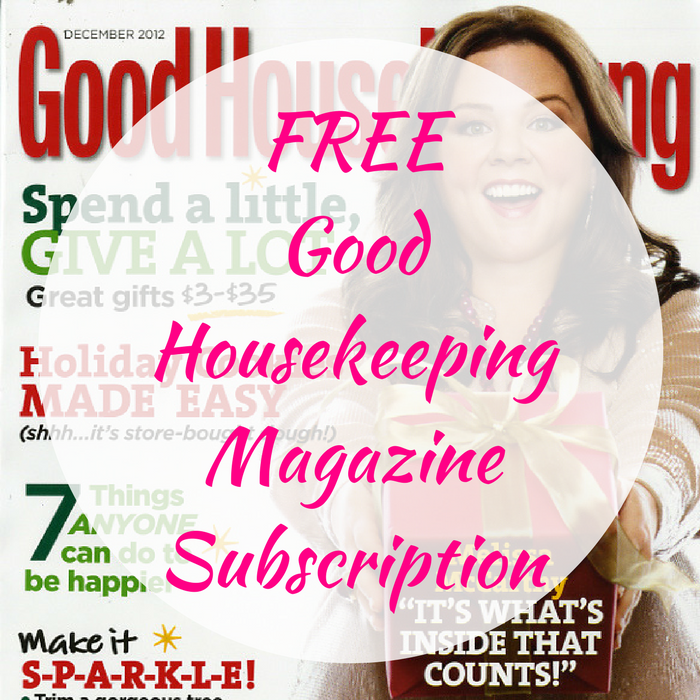 FREE Good Housekeeping Magazine Subscription!