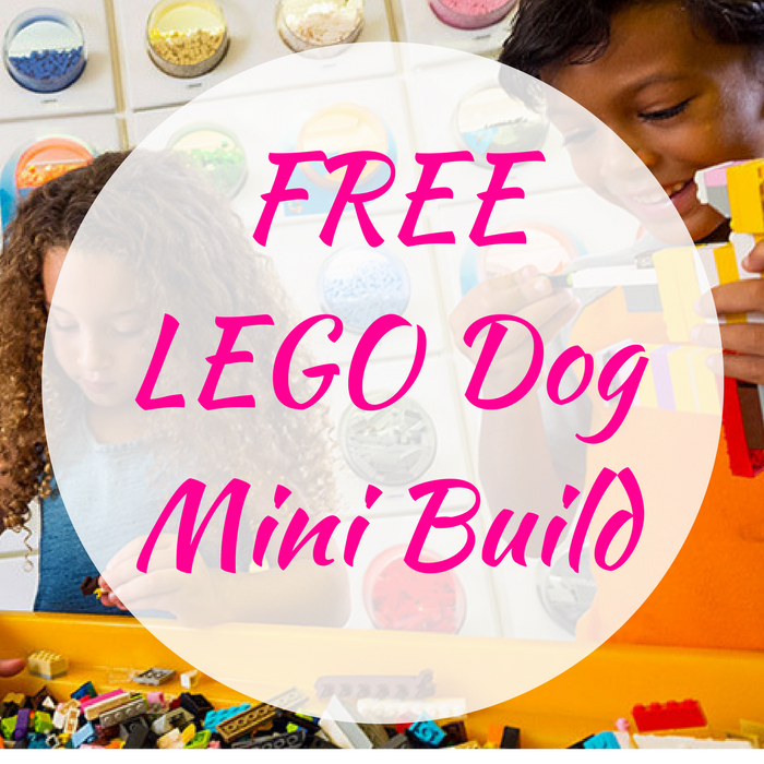 FREE LEGO Dog Mini Build!