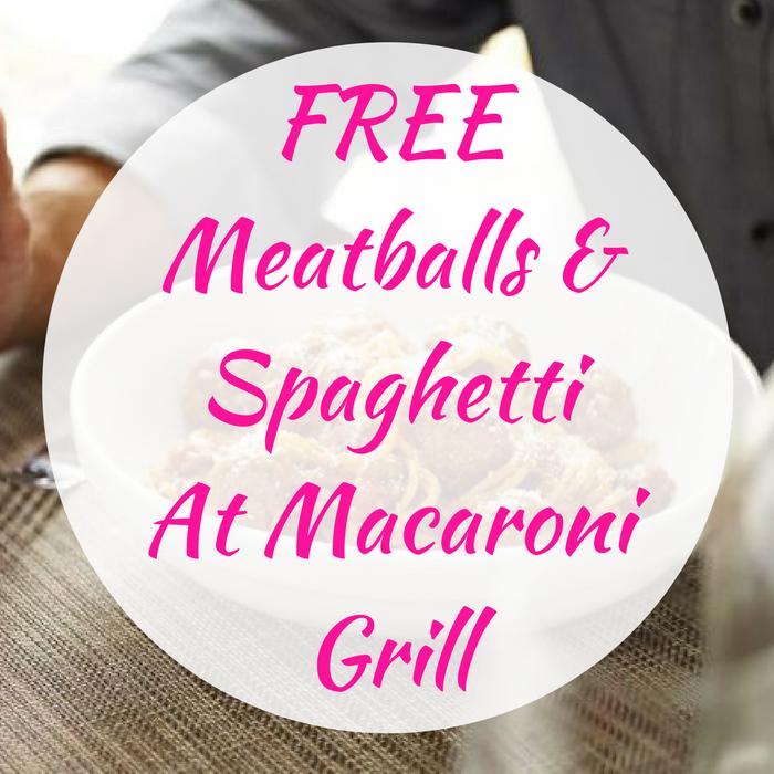 FREE Meatballs & Spaghetti At Macaroni Grill!