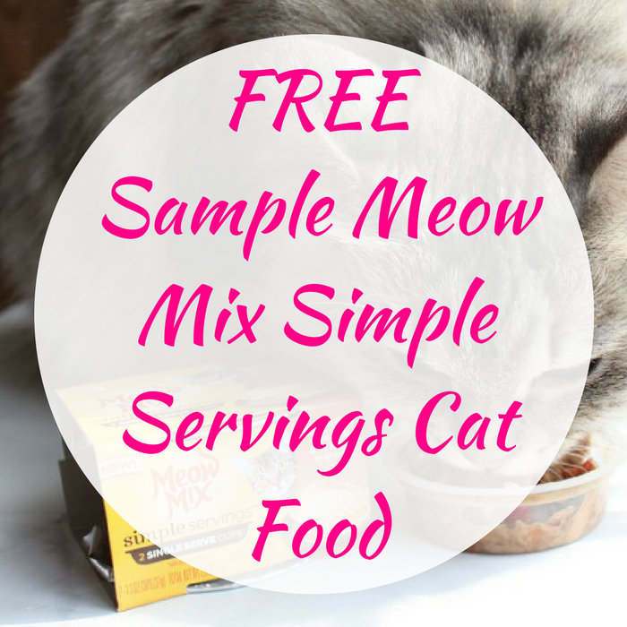 FREE Sample Meow Mix Simple Servings Cat Food!
