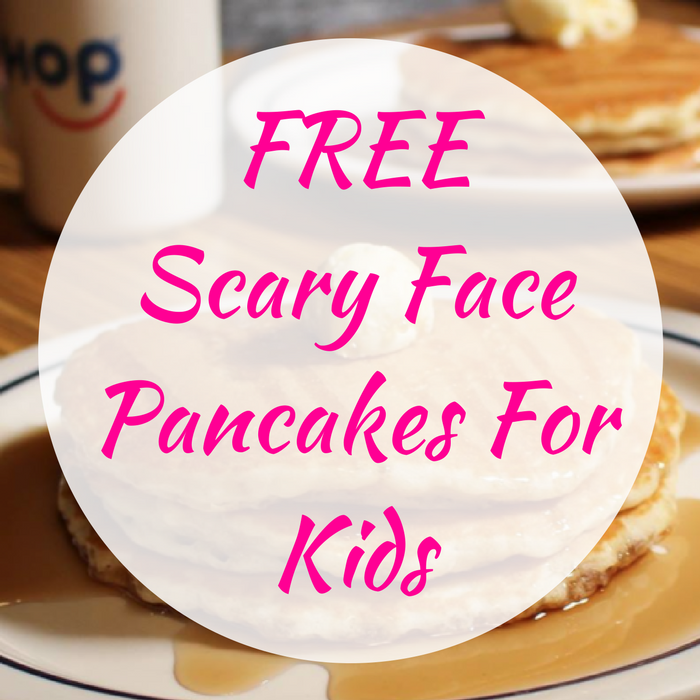 FREE Scary Face Pancakes For Kids!