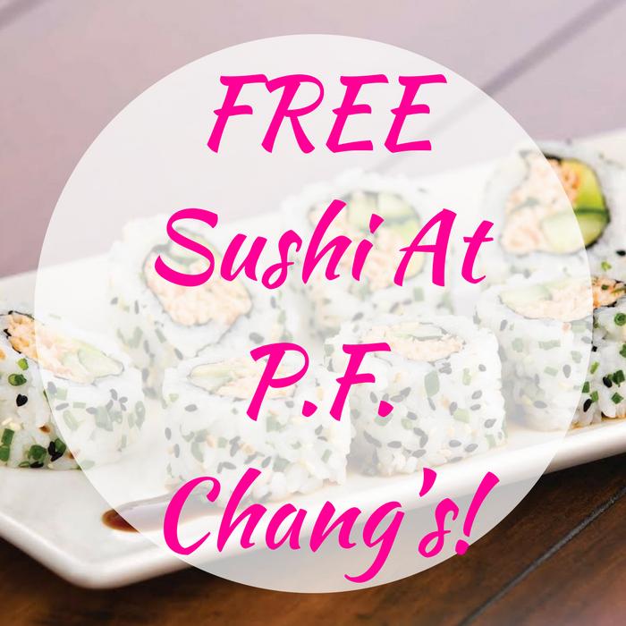 FREE Sushi At P.F. Chang's!