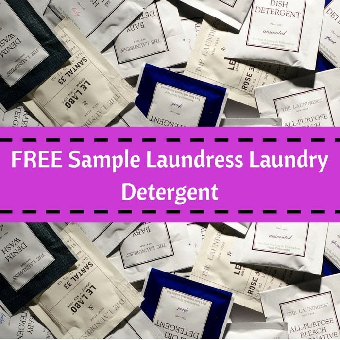 FREE The Laundress Detergent Sample!