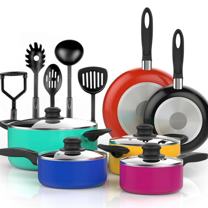 Vremi 15-Piece Nonstick Cookware Set Just $45.99! Down From $90! PLUS FREE Shipping!