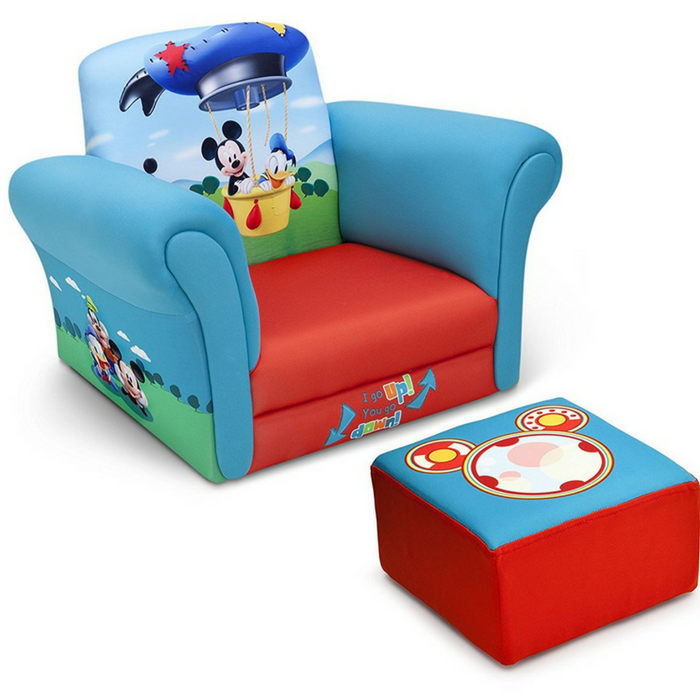 Disney Mickey Mouse Children Chair With Ottoman Just $47.99! Down From $70! PLUS FREE Shipping!