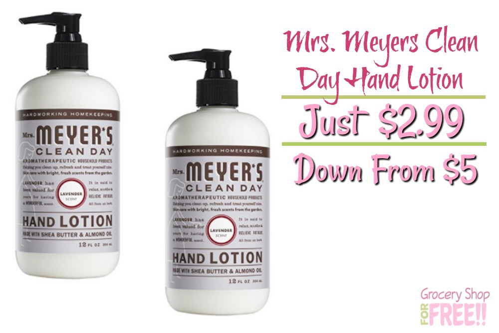 Mrs. Meyers Clean Day Hand Lotion Just $2.99! Down From $5!