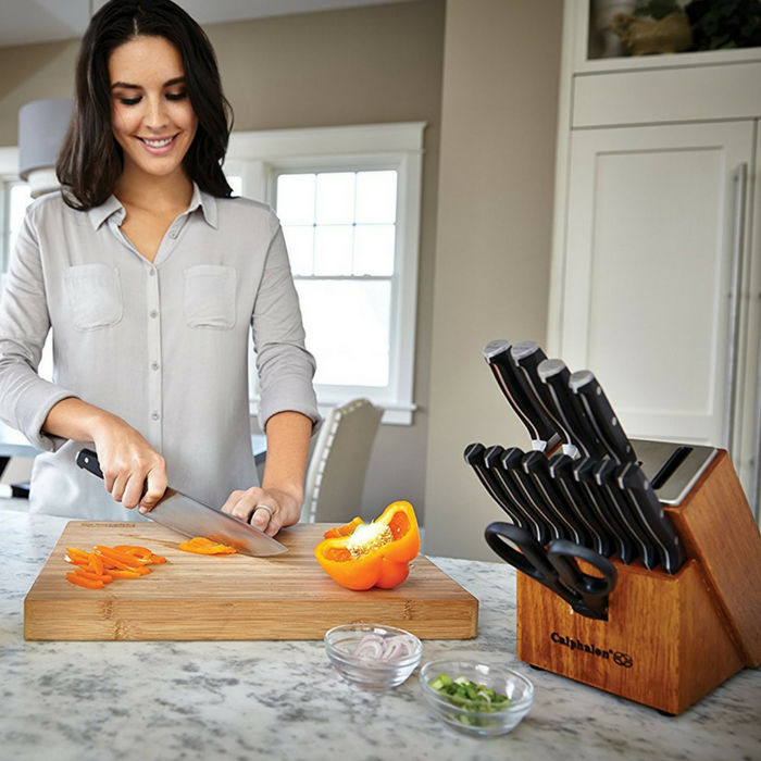 Calphalon 15-Piece Cutlery Knife Block Set Just $83.99! Down From $220! PLUS FREE Shipping!