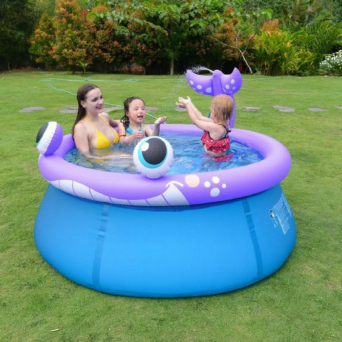 Whale Spray Kiddie Pool Just $8.24! Down From $40!