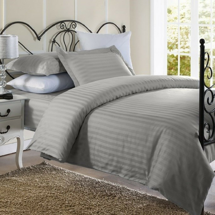 1800 Count Damask Stripe Duvet Cover Set Just $20.99! Down From $90!